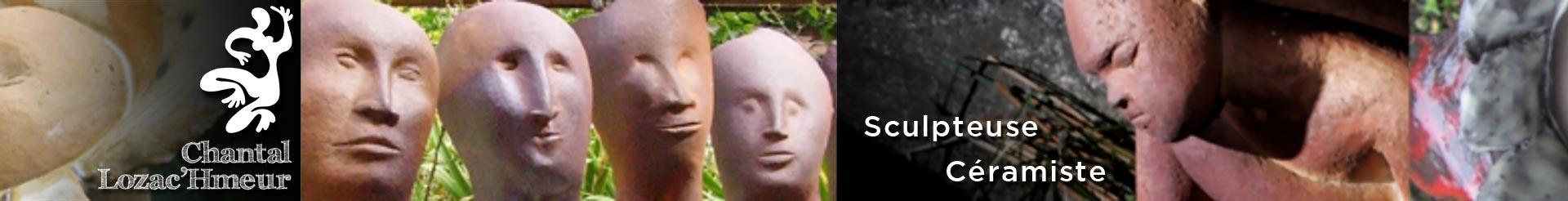 Bandeau de sculptures réalisées par Chantal Lozac'Hmeur