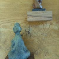 Janus - sculpture bronze par Chantal Lozac'Hmeur
